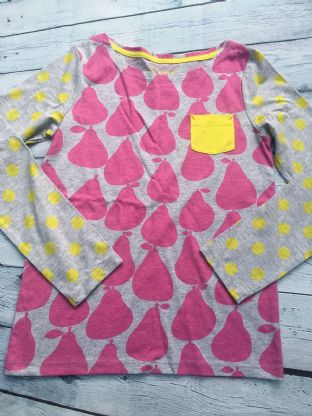 Mini Boden long sleeved grey and pink long sleeved top age 9-10